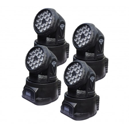 MINI LED Moving Head 7*10W RGBWA  Multi Color With ZOOM